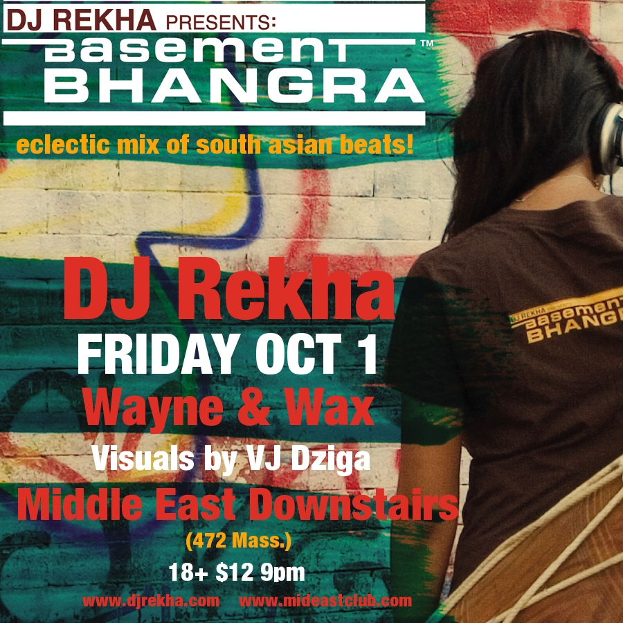 rekha flyer ... Down (Yep that's his real name) as our guest DJ at the Stone Groove.